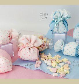 Sacchetto confetti bomboniere C1414-C1419 Baby Pois
