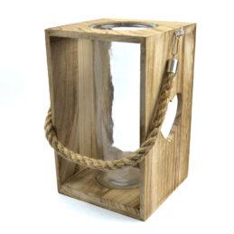 Lanterna in legno naturale