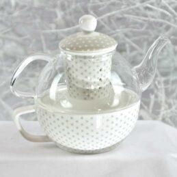 Teiera elegante in vetro