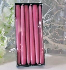 Cone Candle - Candele a cono di Colore Rosa Scuro