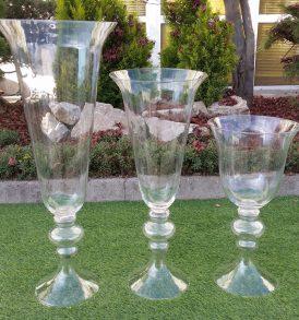 vaso svasato in vetro