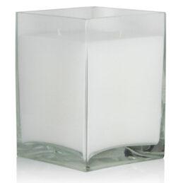 Candela quadrata in vetro