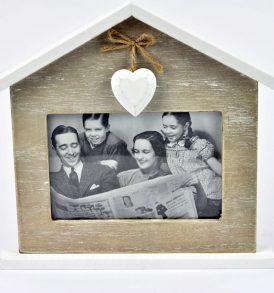 CORNICE IN LEGNO PORTAFOTO SHABBY CASETTA HOME SWEET HOME