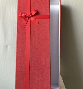 3 Scatole multiuso rivestite in stoffa rossa