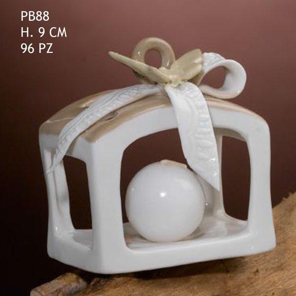 Bomboniere Matrimonio Novita 2018.Bomboniera Lanterna Portacandela In Ceramica Con Particolare
