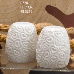 Bomboniera Set Sale e Pepe in Porcellana