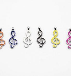 Applicazioni in Metallo Soggetto Nota Musicale