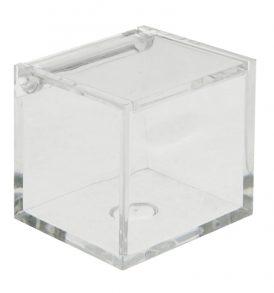 Scatolina Portaconfetti in Plexiglass Trasparente 6x6x7