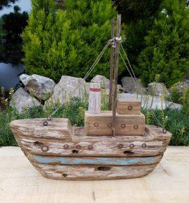 veliero in legno