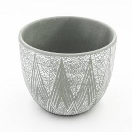 Caspò Portapiante in Ceramica Decorata