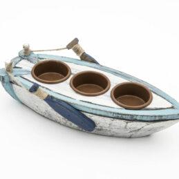 Barca Porta Candele in legno Linea Mare