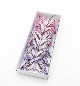 Farfalle Decorative in Tessuto con Clip