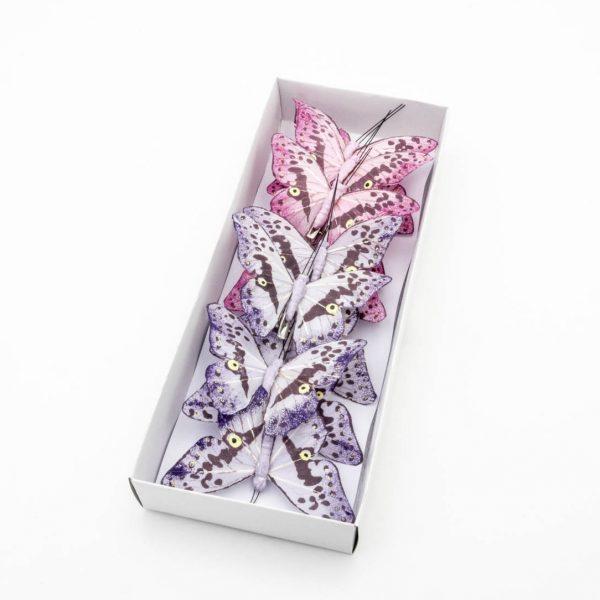 Farfalle decorative in tessuto con clip ingrosso for Farfalle decorative per muri
