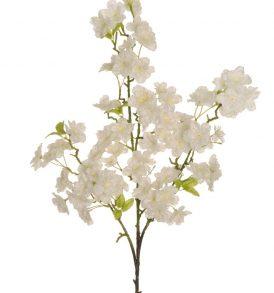 Ramo di Fiore di Pesco Artificiale di colore Bianco