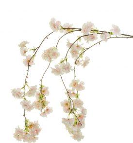 Fiore Artificiale di Pesco Bianco e Rosa