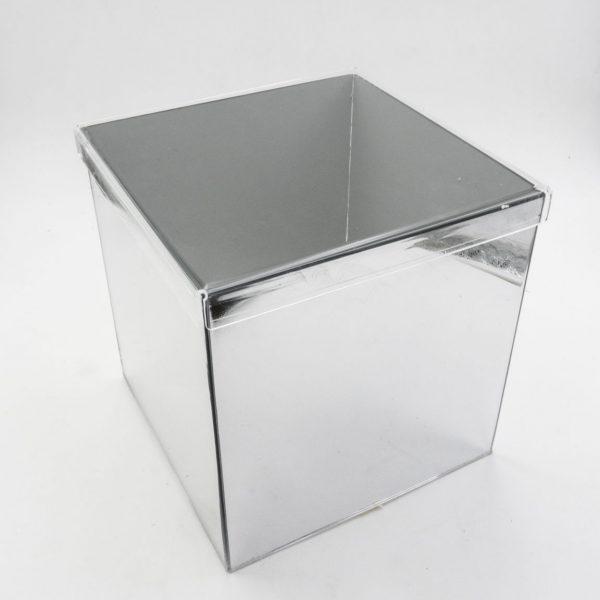 Scatola cubo a specchio con coperchio in trasparente - Plexiglass a specchio ...