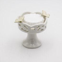 Bomboniera Matrimonio Alzatina in Ceramica Traforata con Sapone Profumato