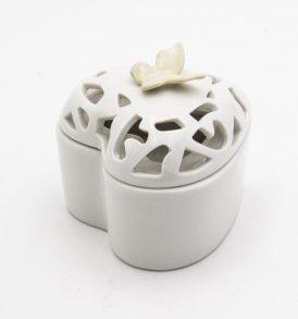 Bomboniera Matrimonio Scatola in Ceramica Traforata a forma di Cuore