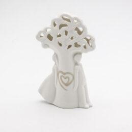 Bomboniera Matrimonio Coppia Albero della Vita in Porcellana