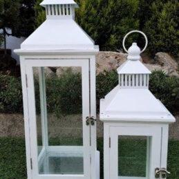 Lanterna bianca s2pz per allestimenti esterni ed interni