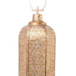 Lanterna porta candela oro stile arabo