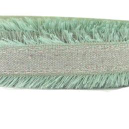 Nastro decorativo verde con frange cod 9267018