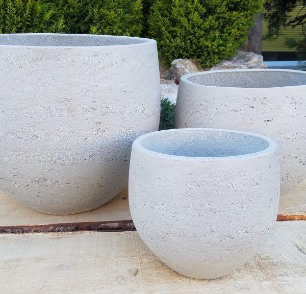 Vasi in terracotta bianco per allestimenti esterni interni for Vasi in terracotta prezzi