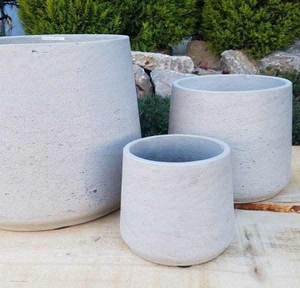 Vasi in terracotta bianco per allestimenti esterni interni for Vasi terracotta prezzi