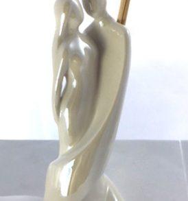 Bomboniera diffusore lui e lei in resina porcellanata