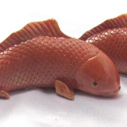 Pesci rossi in ceramica