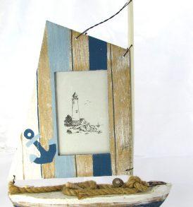 Portafoto legno a forma di barca