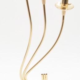 Portacandela oro design moderno