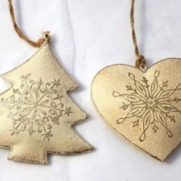 Appendini natalizi oro