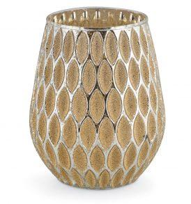 Vaso in vetro con decorazioni oro