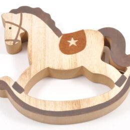 Cavallino decorativo a dondolo