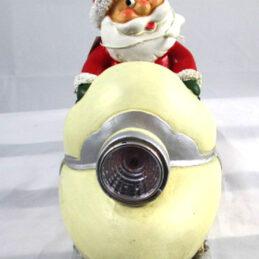 Babbo natale su motoslitta led