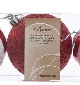 Set 3pz sfere natalizie decorative