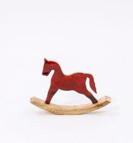 Cavallo a dondolo decorativo