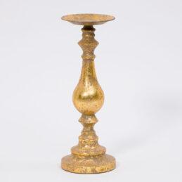 Candelabro oro monocandela