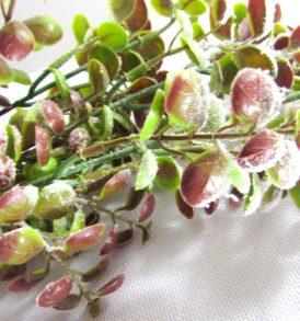 Ramo di eucalipto decorativo floccato