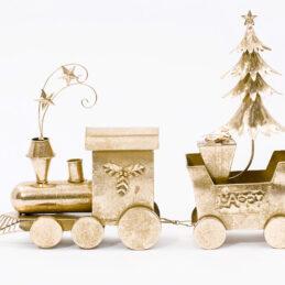 Trenino natalizio decorativo
