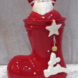Calza portacioccolattini natalizia in ceramica