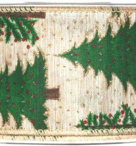 Nastro decorativo con alberelli natalizi