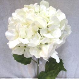 Ramo di ortensia bianco glitterato