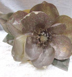 Ramo di magnolia oro glitterato
