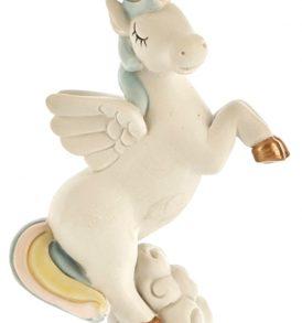 Bomboniera unicorno celeste su nuvola