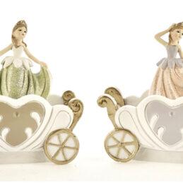 Bomboniera ballerina principessa con carrozza