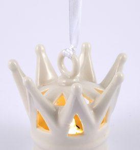 Bomboniera appendino corona con luce led