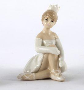 Bomboniera comunione ballerina principessa in porcellana
