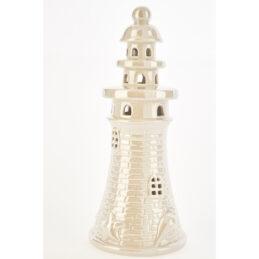 Bomboniera Faro in porcellana con luce led